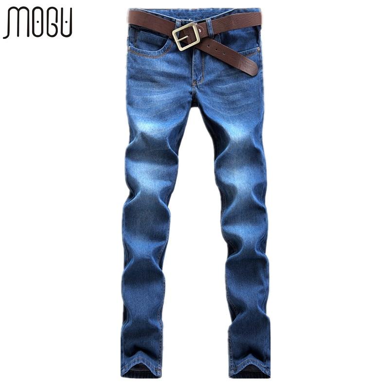 MOGU pria Jeans Kualitas Tinggi 2017 Musim Panas Baru Fashion Denim Celana Untuk Pria Slim Fit Celana Kasual pria Ukuran Asia pria