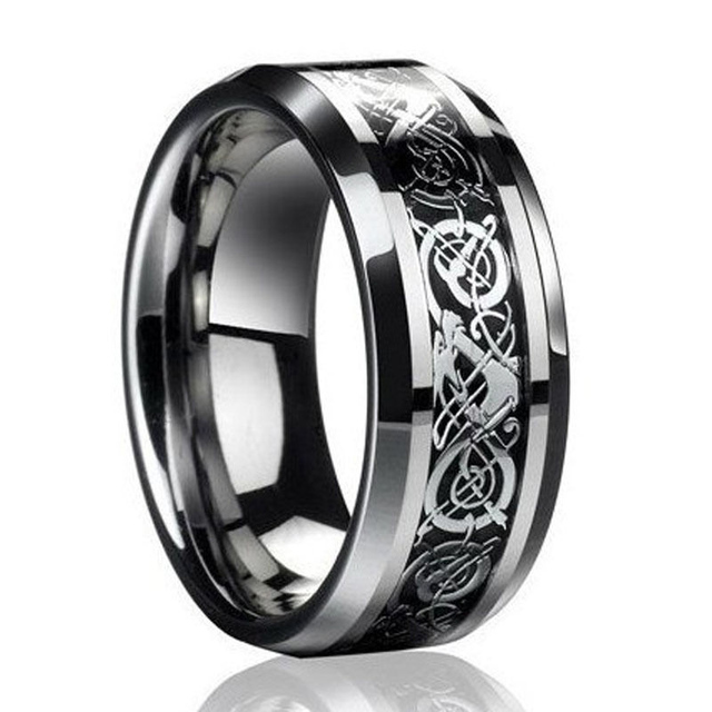 Stainless steel Dragon Ring for lovers Valentine present