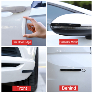Image 3 - Baseus 4Pcs Auto Tür Wache Schutz Tür Rand Trim Guards Anti Kollision Streifen Auto Styling Form Anti scratch Aufkleber