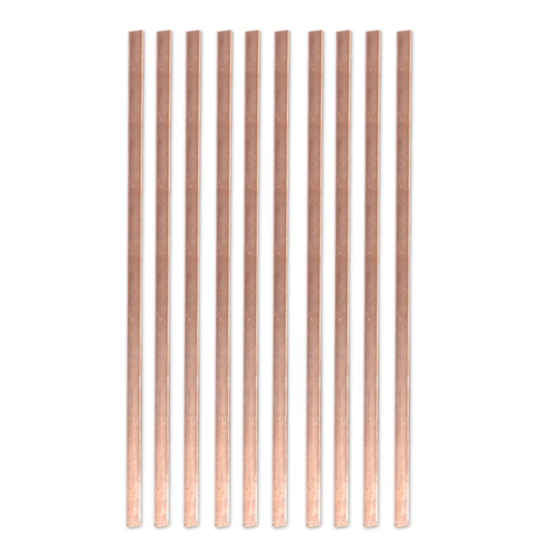 10pcs Low Temperature Flat Soldering <font><b>Rods</b></font> Copper Welding <font><b>Rods</b></font> For Welding Brazing Repair 1mm*<font><b>3mm</b></font>*400mm image