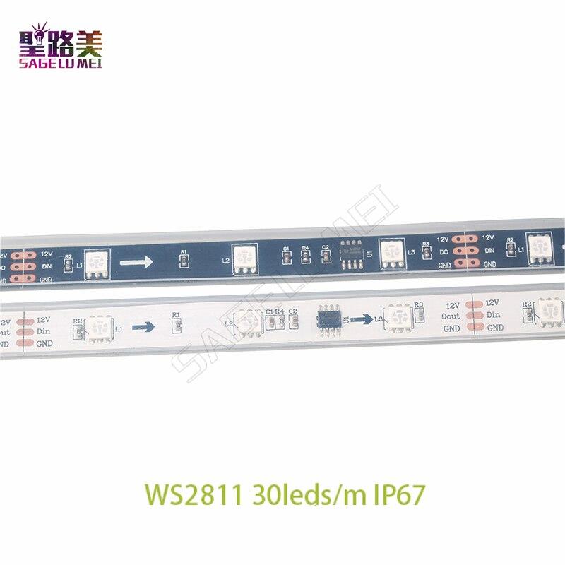 DC12V SMD5050 RGB Flexible direccionable 30/48 / 60leds / m ws2811 - Iluminación LED - foto 3
