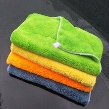 2019 ใหม่ 1Pcs ผ้าเช็ดตัวล้างรถหนาสองด้าน Coral ขนแกะสำหรับซักผ้าทำความสะอาดแห้งดูดซับขัดอัตโนมัติรายละเอียดเครื่องมือ