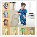 0-12M Baby Boy Rompers Blue Star Horse Baby Rompers Long Sleeves O-Neck Fleece Giraffe Baby Clothing Character Pattern V20