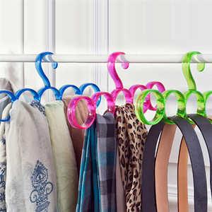 Image 3 - New listing Creative Storage Rack Scarf Hanger 5 Hole Storage Rack Multifunction Removable Tie Clothes Belt Shelf