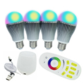4PCS 9W Milight Bulbs RGBW RGBWW + Mi light Wireless Wifi Controller Box +Mi.light 4-zone RGBW RF Controller