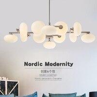 Светодио дный подвесные светильники E27 золото Nordic современной гостиной спальня столовая hanglampen voor eetkamer светодио дный лампа лампочка Эдисона