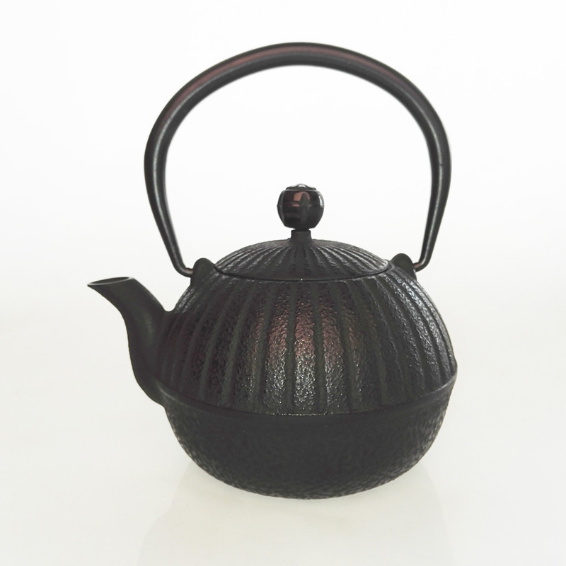 Ancient Chinese Style Pumpkin Shape Cast Iron Kettle Uncoated Teapot 0 55L Teapot Set Kettle Drinkware