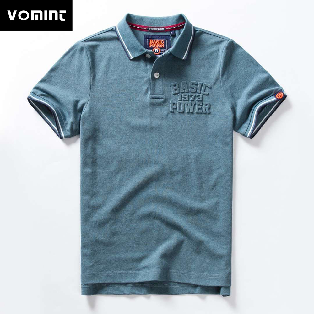 Vomint 2019 Summer New Mens Cotton Polo shirts Short Sleeve Solid Color shirts for Male M-3XL BP6901