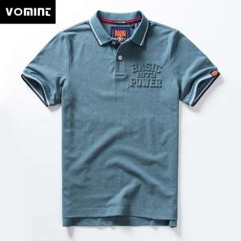 fce11d814504f Vomint 2019 Yaz Yeni Erkek Pamuk polo gömlekler Kısa Kollu gömlek Katı Renk gömlek  Erkek M-3XL BP6901