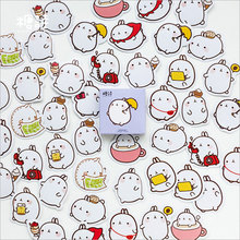 45 pcs/box cute Rabbit rabbit mini paper sticker DIY decoration Scrapbooking Label Seal Sticker kawaii Stationery