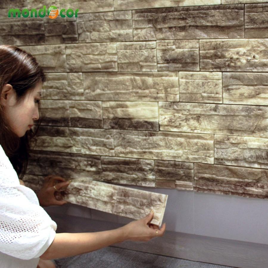 PE Foam 3D Wallpaper Home Decoration Brick Pattern
