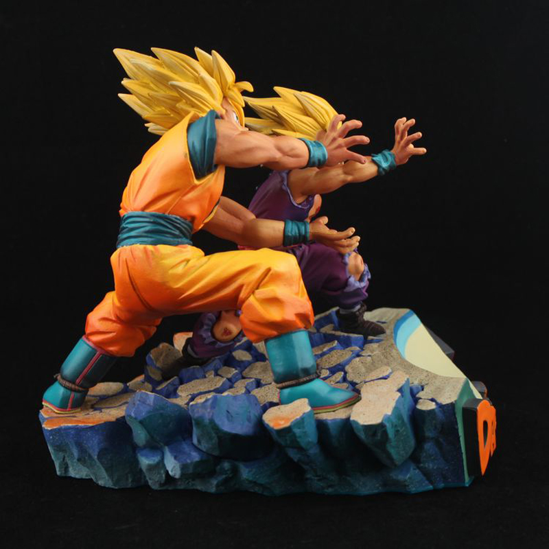 Dragon Ball Z Super Goku Gohan Father And Son ka me ha me ha Boxed PVC Action Figure Model Collection Toy Gift free shiping dragonball z super saiyan goku and gohan father figure 18cm pvc