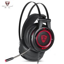New Motospeed H18 Gaming Headphone 7.1 Virtual Surround Sound USB Plug Over-ear Gaming Headset with Mic V40 Mouse for PC PUBG(China)