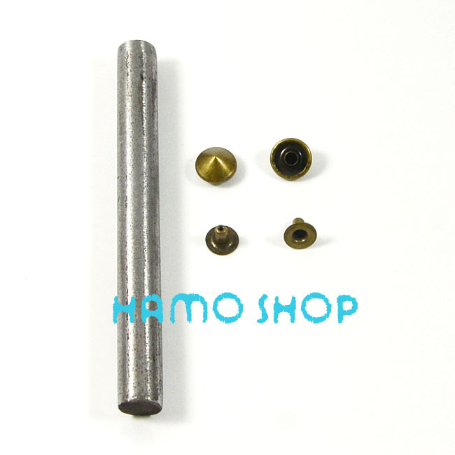 10mm Copper Cone Rivet Brass Spike Studs Leather Craft Fashion Clothes Biker Rapid Punk Rock With Tool 100pcs lot Free Shipping in Garment Rivets from Home Garden