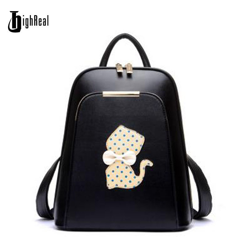 HIGHREAL Famous Brand Women Backpack Luxury Designer Lady's Small Vintage Backpacks For Teenage Girls High Quality PU Leather Tr new arrival brand designer women sunglasses polarized vintage sun glasses for women famous oculos de sol high quality 8802