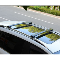 Wholesale aluminum alloy cross bar sliver and black colour roof rack for LAND CRUISER 12-15