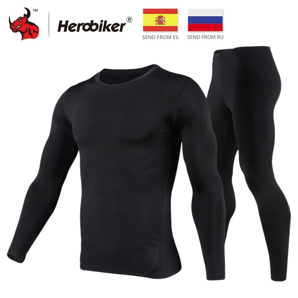 HEROBIKER Motorcycle Thermal Underwear Set Men