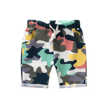 2-10Y summer 2019 new childrens pants camouflage cotton Lycra boy stretch seven boys