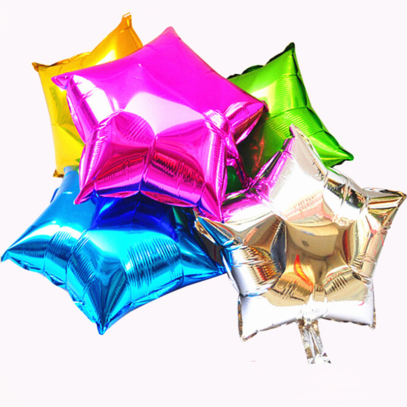 5 pcs lot 10 inch helium balloon star wedding large for 7 star balloon decoration