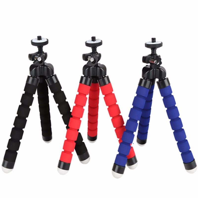 Mini Portable Flexible Sponge Tripod Stand Mount For Gopro Hero 6 5 4 3+ 3 2 1 For SJcam SJ6 SJ7 SJ5000 SJ4000 For Xiaomi Yi justone 6 5 mini octopus tripod set for camera gopro hero 4 3 3 sj4000 sj5000 black orange