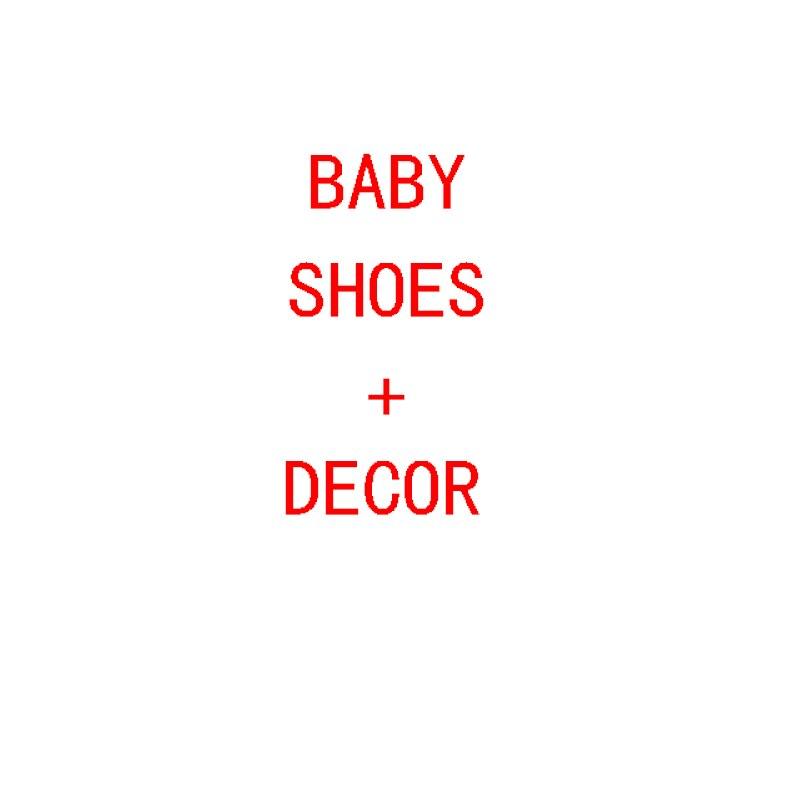 2019 Симпатичные для маленьких девочек кисточкой кроватки обувь + Торт Декор 2 шт. комплекты