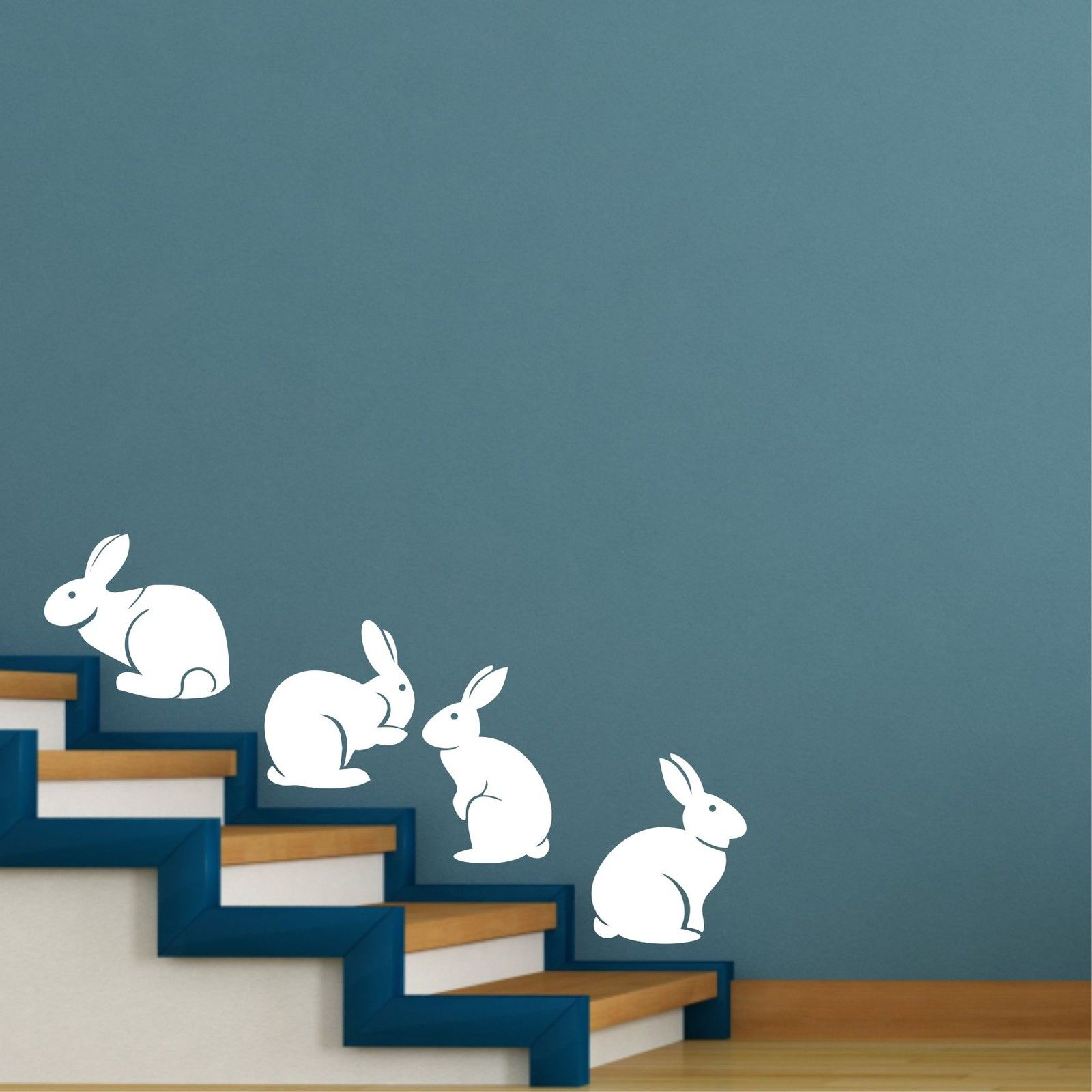 A007 Cute Bunny Rabbits Wall Sticker Baby Nursery Rabbitits Wall - Տնային դեկոր - Լուսանկար 1