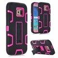 Teléfono case case cubierta de la cubierta para samsung galaxy s7/s7 edge dual impacto kickstand híbrido de silicona para galaxy s7 s7edge