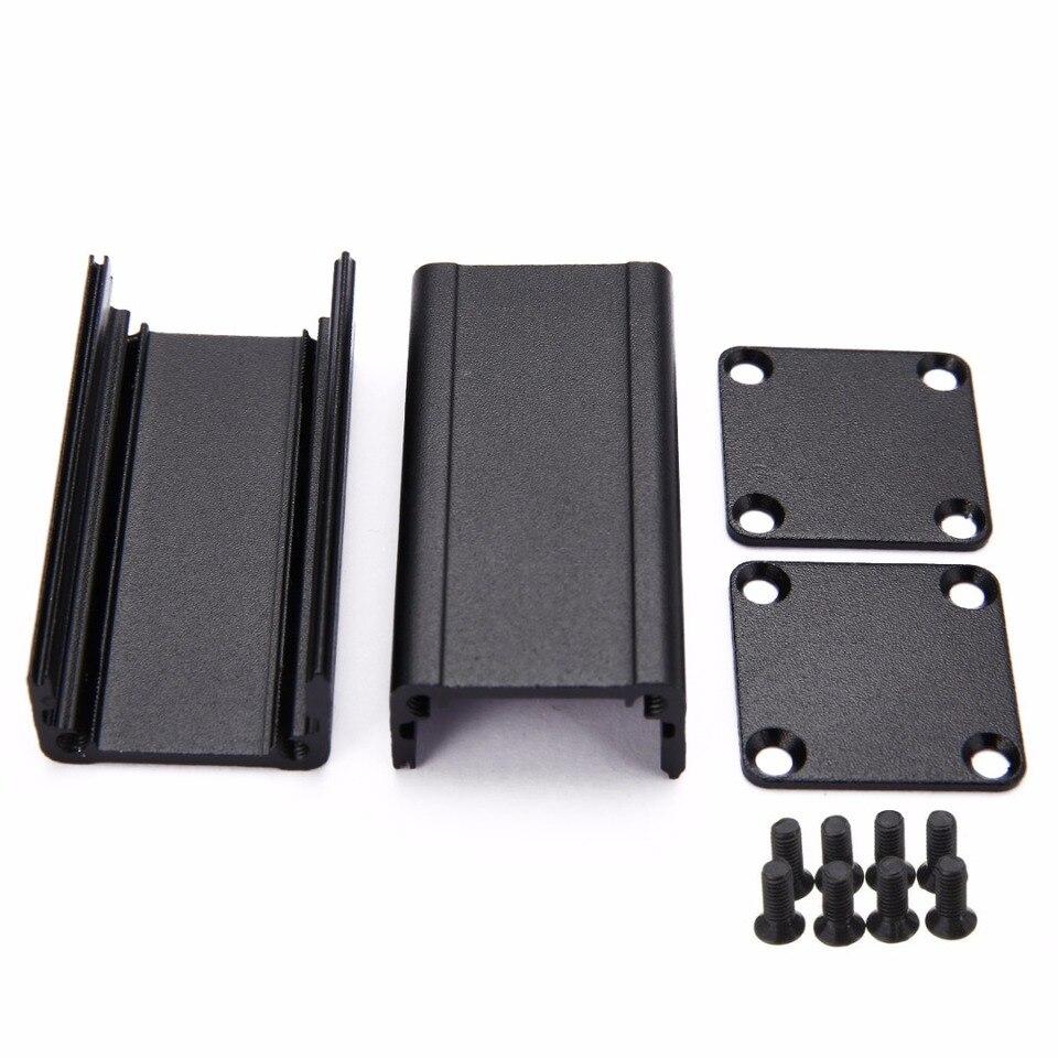 100*25*25mm Extruded PCB Aluminum Box Black Enclosure Electronic Project Case E/&