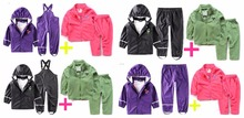 Children wind rain suit boys and girls play water suit (removable) inner suit a is equal to two sets of rain suit