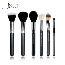 Jessup Brand Professional Makeup brushes Tools set Powder Duo Fibre Tapered Face Foundation Contour Lip Make up brush beauty kit