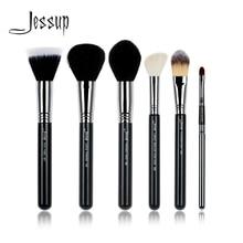 Jessup marca de maquillaje profesional de los cepillos conjunto de herramientas polvo Duo fibra Tapered Contorno de base de maquillaje facial labios cepillo belleza kit