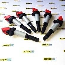 Set von 6 UPGRADE LEISTUNG zündspulen für BMW E39 E46 E53 E60 E63 2.5L 3.0L 3.2L L6 325i 330i 525i 530i 528i 535i Z4 Z3 X3