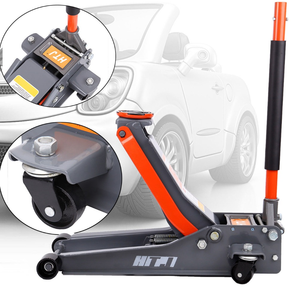 Car Auto jack Heavy Duty 3 Ton Hydraulic Low Garage Floor Trolley Jack Car Lift free shipping new arrival 4 ton exhaust air jack auto jack for sedan and suv ce certificate