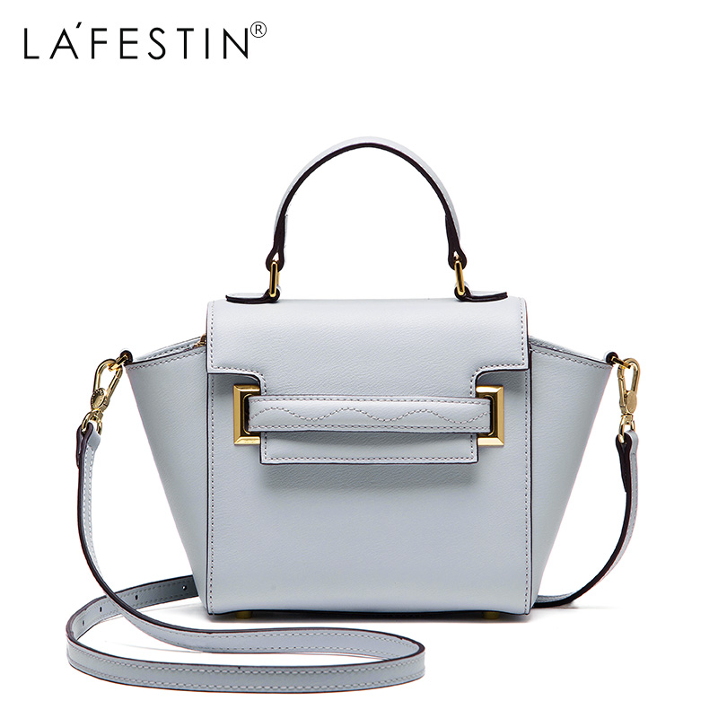 LAFESTIN Luxury Women Handbag Genuine Leather Bag 2017 Fashion Designer Trapeze Totes Bag Shoulder Brands Women Bag bolsa Female luxury genuine leather bag fashion brand designer women handbag cowhide leather shoulder composite bag casual totes