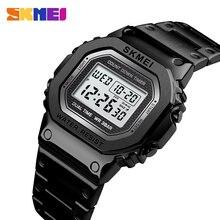 SKMEI модные спортивные часы, мужские цифровые часы, 3 бар, водонепроницаемые часы с будильником, чехол из сплава, Цифровые мужские часы, reloj hombre 1456
