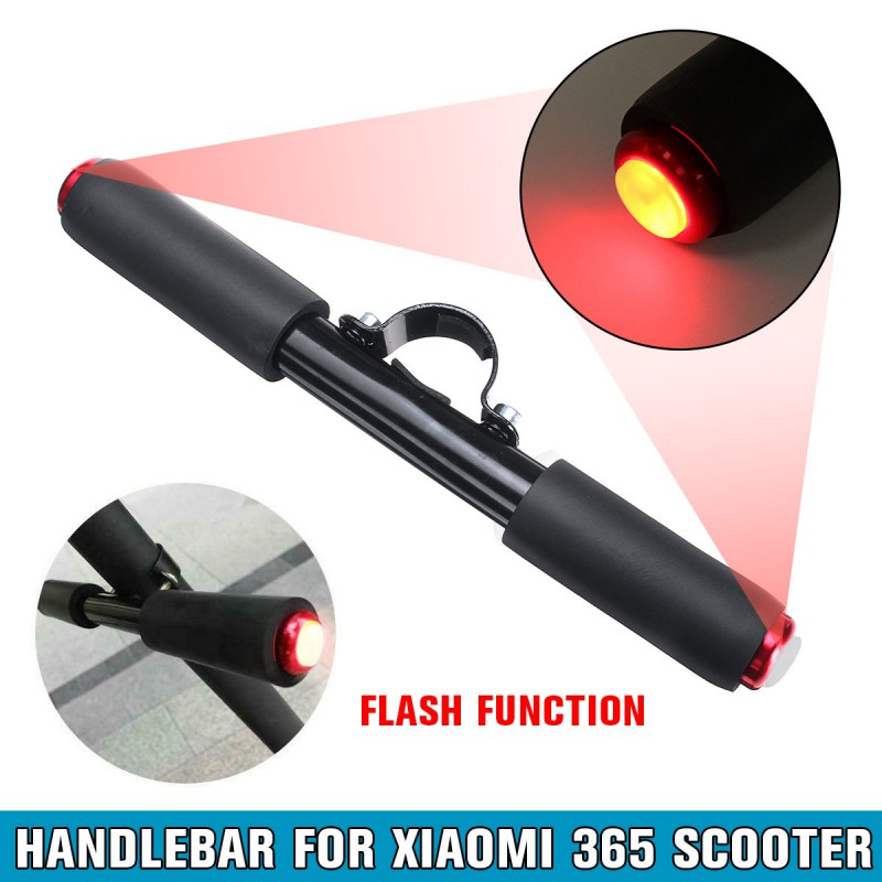 Electric Scooter LED Flash Bar Grip Children's Handrail Kids Bicycle Armrest Handlebar With Red Light for Xiaomi M365