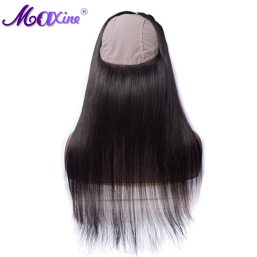 Straight Hair 360 Lace Frontal With Cap Pre Plucked With Baby Hair Brazilian Remy Human Hair