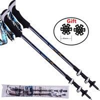 High quality Rubber anti-slip handle crutch Trekking Pole walking sticks walking pole alpenstock for ski hiking trekking