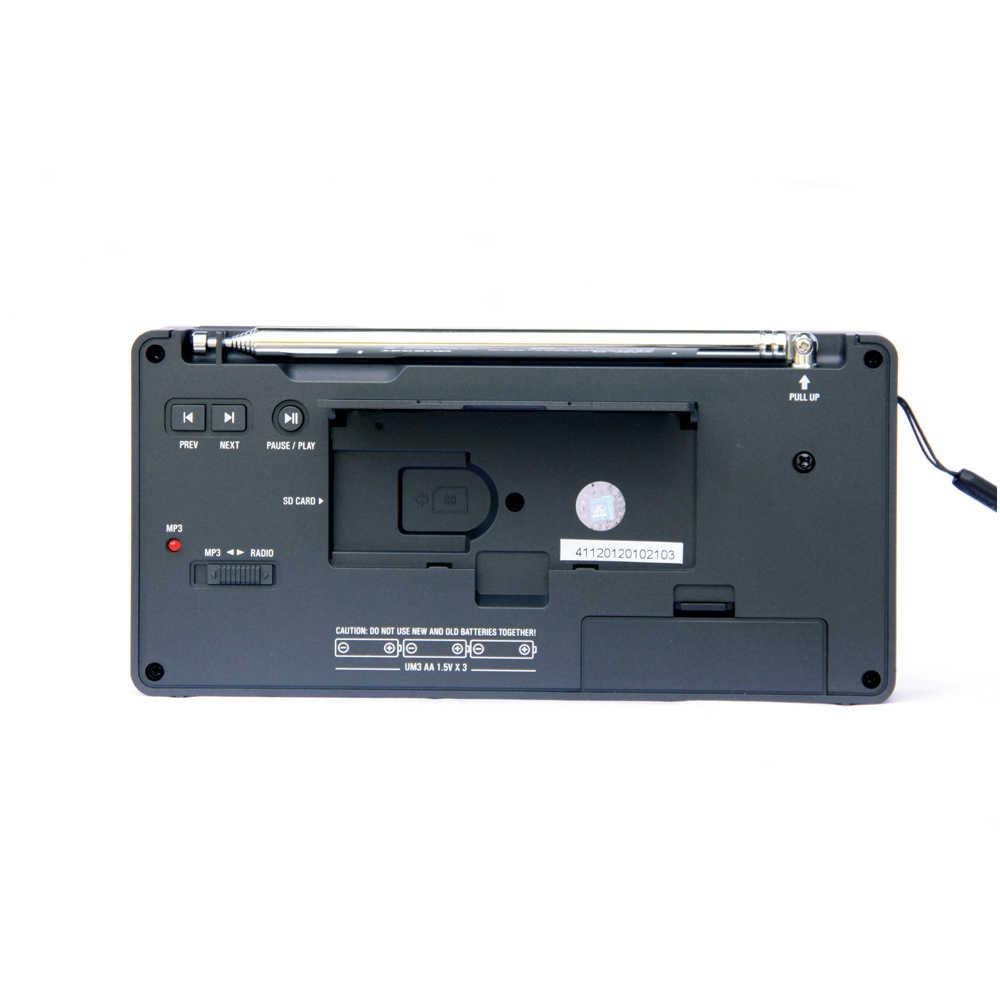 Tecsun PL-398MP ポータブルラジオ 2.2 バンドデジタルチューニングステレオ FM/AM/SW ラジオ受信機 MP3 プレーヤー