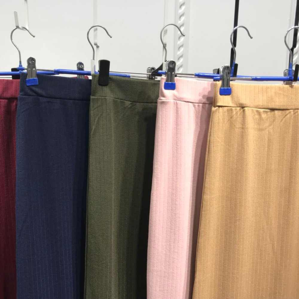 Fashion Women's Pencil Skirt Knitting Cotton Long Skirt Elegant Modest Muslim Bottoms Ankle-Length Party Islamic Clothing Winter