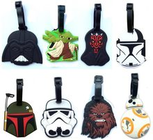 Star Wars luggage tap BB8 toys set 2016 New Force Awaken BB-8 boba fett chewbacca Darth Vador clone Trooper Yoda bag decoration(China)