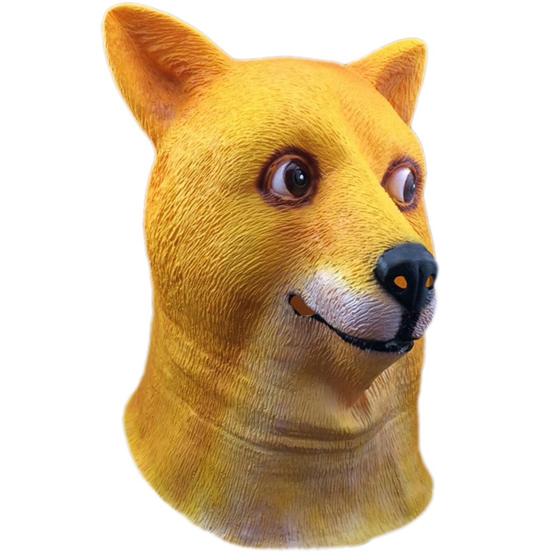 Dogen Full Face Maske Halloween Cosplay Verrückte Maske Masquerade Dress Up Hund Gesicht Maske Karneval Party Favor Supplies Accesoires 2018