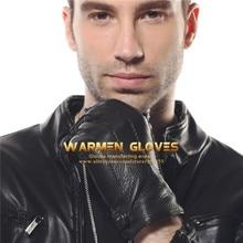 ELMA Men's Winter Driving Cashmere Lining Deerskin Leather Gloves em012wr
