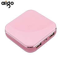 Aigo S20000 Power Bank 10000mAh Lovely Appearance Battery Charger Dual USB Ports Mobile Phone Powerbank External