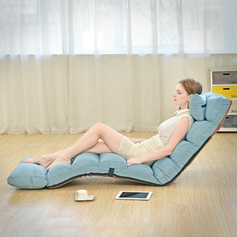 Lazy couch single foldable lunch break lounge chair living room sofa bed balcony leisure bay window floor sofa bedroom stool-in Living Room Sofas from Furniture on Aliexpress.com | Alibaba Group
