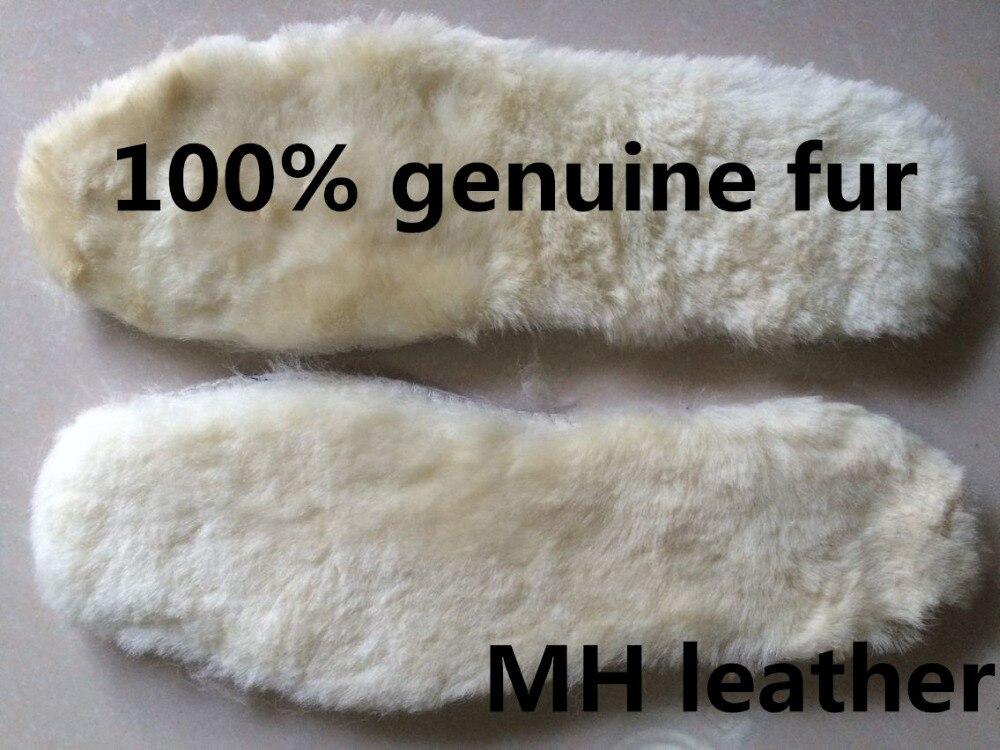 Echtes Schafspelz-Einlegesohle, Woll-Einlegesohlen aller Größen, Einlegesohlen für den Winter
