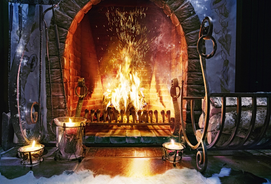 Laeacco Country Farm Fireplace Candle Wood Winter Photography Backgrounds Customized Photographic Backdrops For Photo Studio