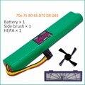 3 шт./лот hepa-фильтр + боковая щетка + аккумулятор 4500 мАч 12 в Ni-MH очиститель батарея для Neato BotVac 70e 75 80 85 D75 D85 пылесосов