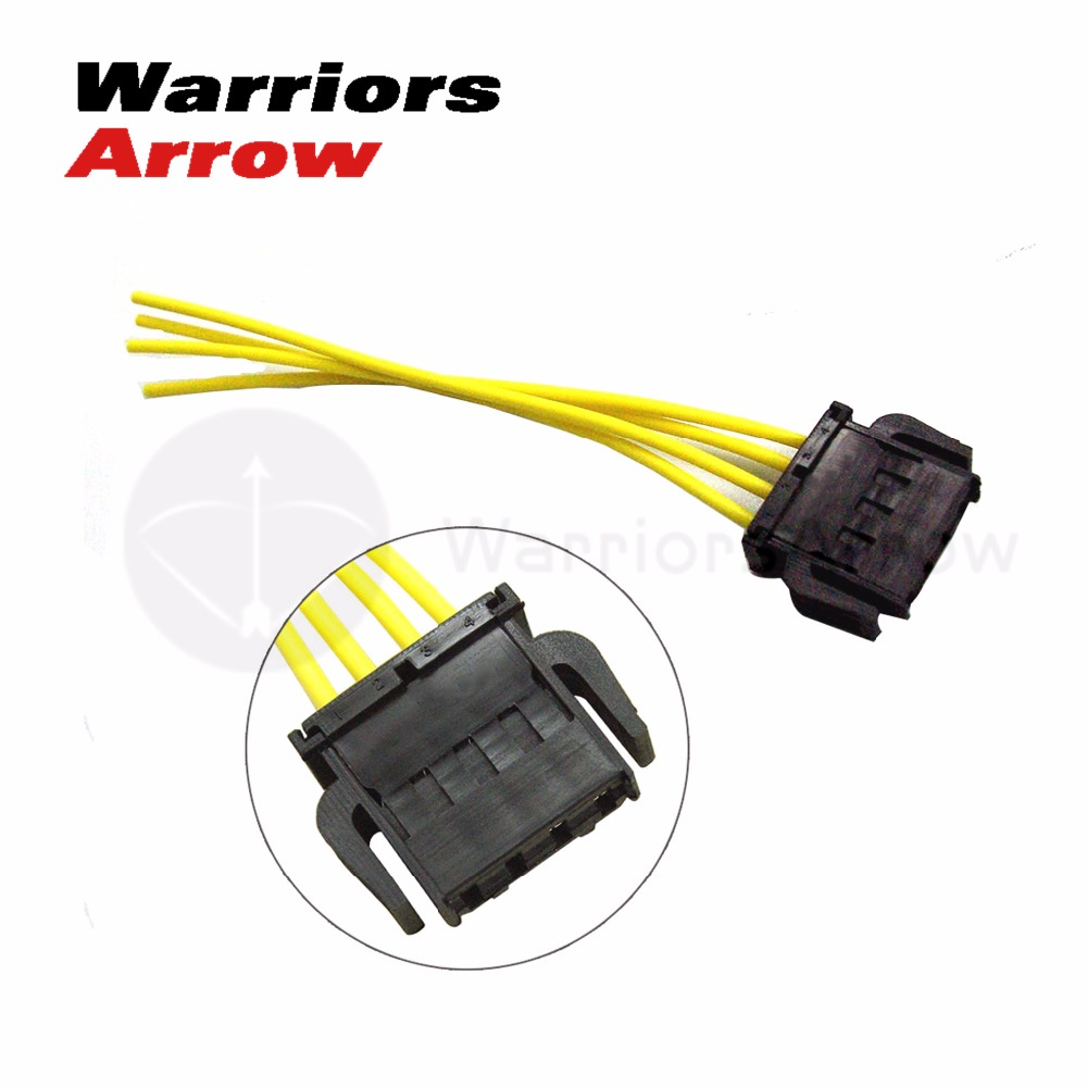 small resolution of 1j0972754 for vw beetle caddy golf jetta for audi a3 a4 a6 fabia altea 4 pin blower fan motor resistor wiring plug connector