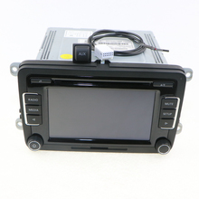 OEM VW Car Radio RCD510 Code Reverse-Image+AUX Surface Cap Housing+Cable CD MP3 For VW Jetta Golf MK5 MK6 Passat B6 3AD 035 190A